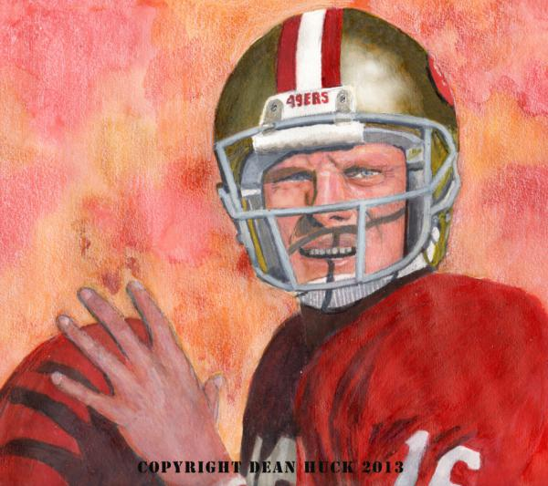Joe Montana by DHWallArtist